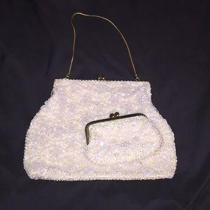 Vintage set: Clutch with change purse